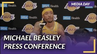 Lakers Press Conference: Michael Beasley on Media Day