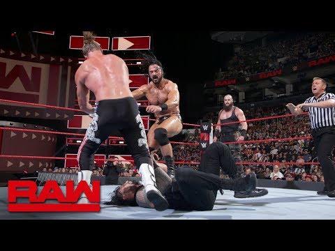 Braun Strowman turns on Roman Reigns during tag team main event: Raw, Aug. 27, 2018 thumbnail