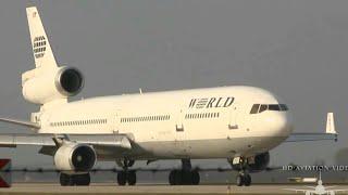 ᴴᴰ ✈ MD-11 VERY CLOSE - World Airways @ LEJ