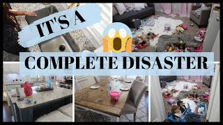 COMPLETE DISASTER CLEAN WITH ME | HOUSE TRANSFORMATION | EXTREME CLEANING MOTIVATION