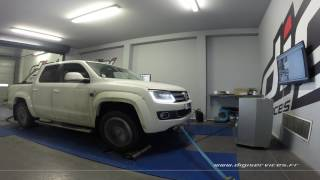 VW Amarok 2.0 tdi 180cv AUTO Reprogrammation Moteur @ 196cv Digiservices Paris 77 Dyno