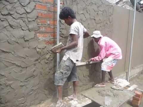 Sri Lanka CeylonPlastering A Brick Wall