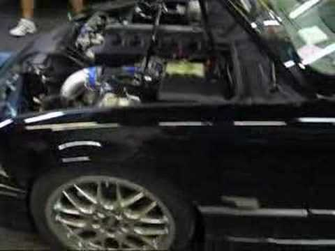 VAC Turbo E36 BMW M3 S52 US 600+ WHP Turbo on dyno