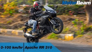 TVS Apache RR 310 - 0-100 km/hr & Top Speed [VBOX] | MotorBeam