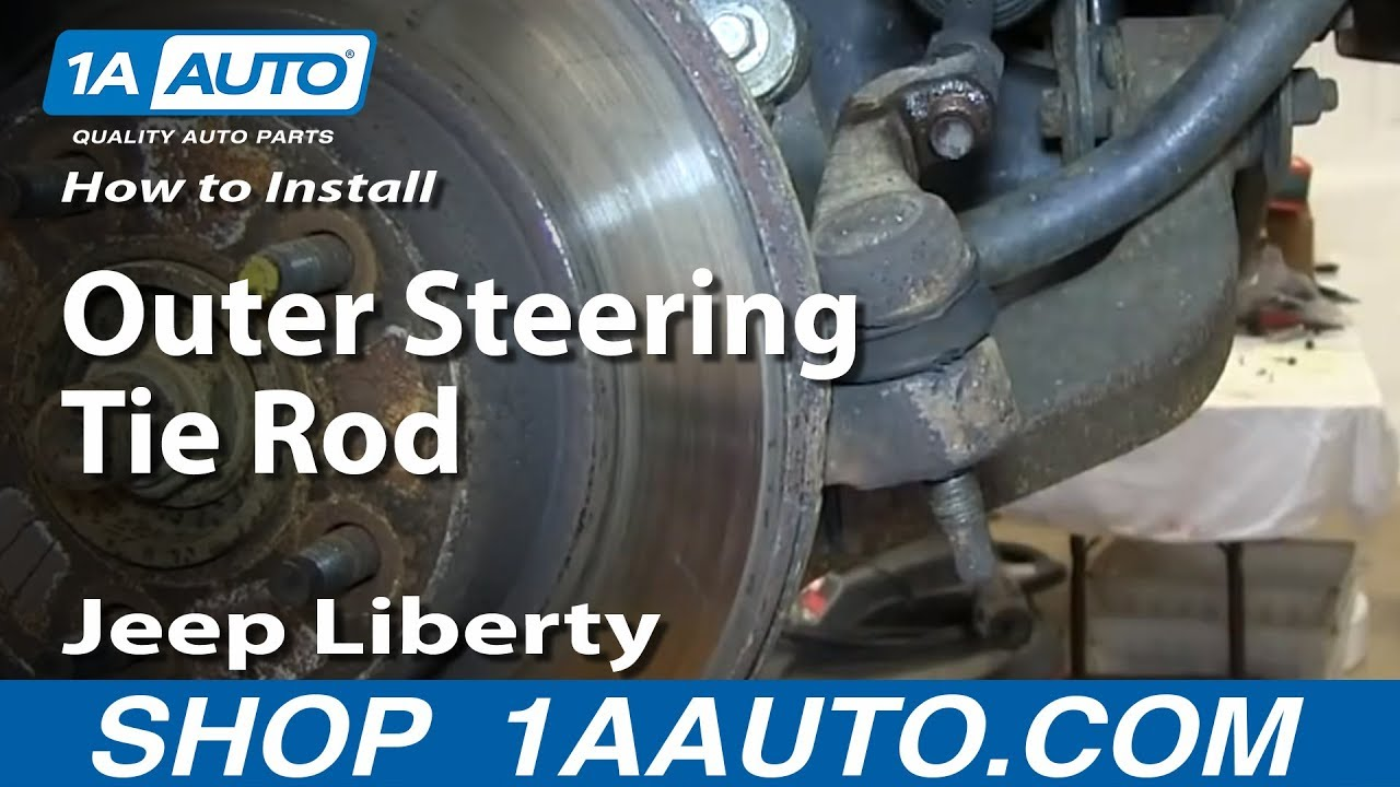 How To Install Replace Outer Steering Tie Rod 2002 05 Jeep