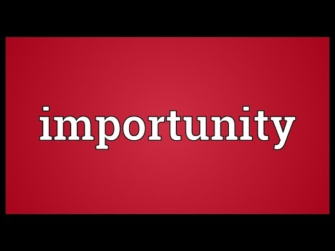 Header of importunity