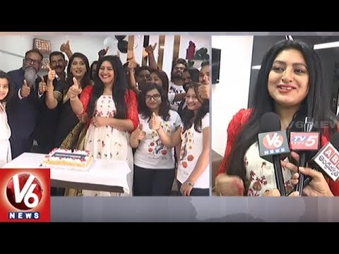 Actress Sana Shanoor Launches Toni & Guy Essensuals Saloon In Mehdipatnam | Hyderabad | V6 News