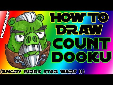 How To Draw Count Dooku Pig from Angry Birds Star Wars 2 ✎ YouCanDrawIt ツ 1080p HD