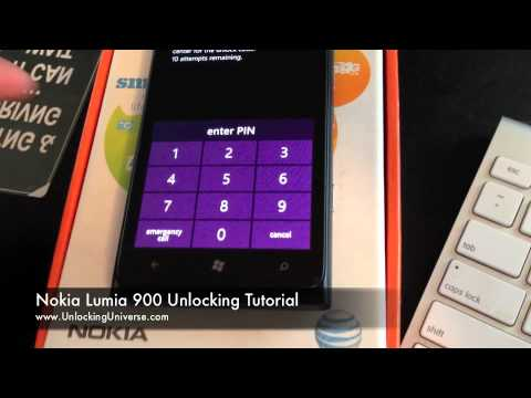 How to Unlock Nokia Lumia 900 for all Gsm Carriers using an Unlock Code