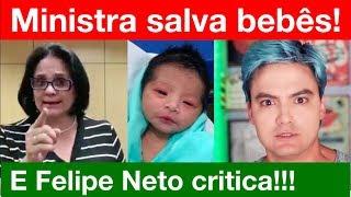 Bebês enterrados vivos: Felipe Neto tenta lacrar com Ministra Damares, mas passa a maior vergonha!