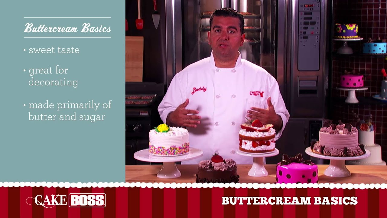 Cake Boss Decorating Buttercream : Buttercream Cake Frosting Basics - Icing Tips & Techniques ...
