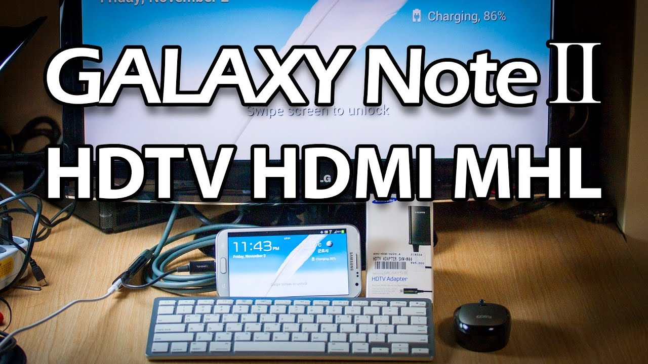 how to connect galaxy note 10.1 with tv