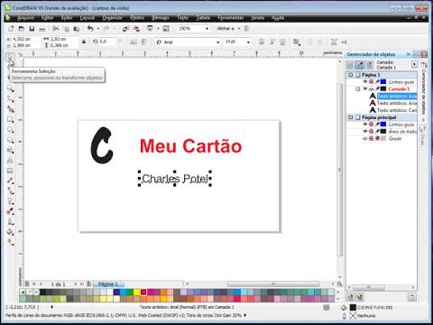 Criando e Imprimindo Diversos Cartões de Visita no CorelDraw