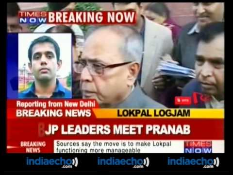 BJP Leaders Meet Pranab Mukherjee To Discuss Lokpal & Food Security Bill - Indiaecho.com