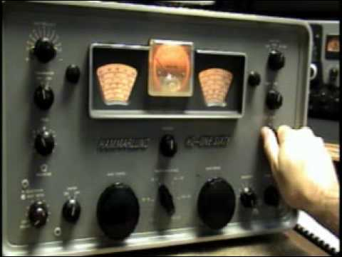 Hammarlund HQ-160 Tube amp Ham Shortwave Receiver Demo