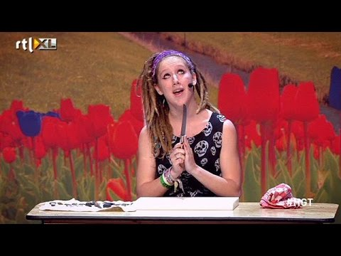 Sterre - The Knife Game | Audities | Holland's Got Talent 2014 video