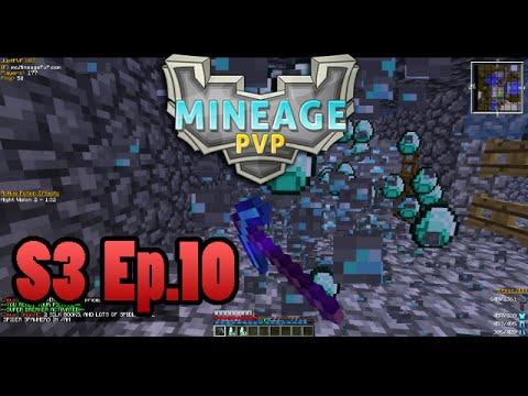 MineagePvP S3 Ep. 10 - Diamond Mining!!