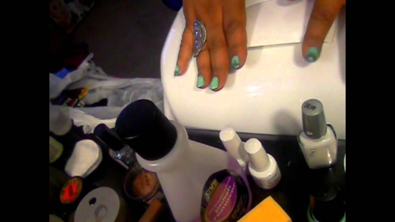 Gel manicure Using Gelish polish and China Glaze - YouTube