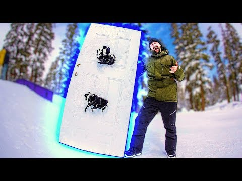 TURNING A FULL SIZE DOOR INTO A SNOWBOARD!