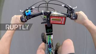 Russian inventor combines jet engine with bicycle