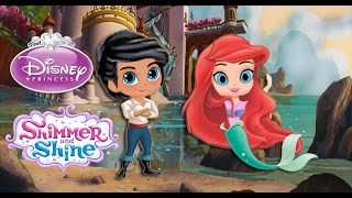 Shimmer and Shine Color Disney Episode Princess Ariel and Eric | Little Mermaid