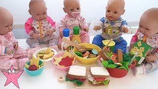 COCINO COMIDA de juguete y se la comen todos mis bebés