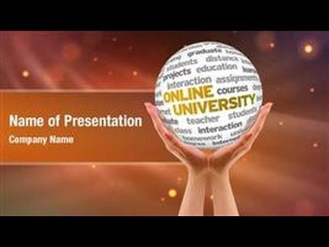 Online University PowerPoint Video Template Backgrounds - DigitalOfficePro #01195V