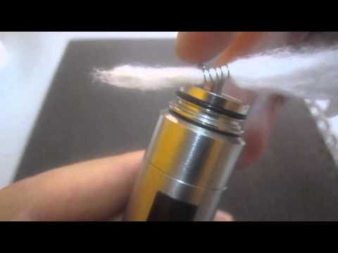 Cara² setup cotton wick di IGO-L Rebuildable Dripping Atomizer