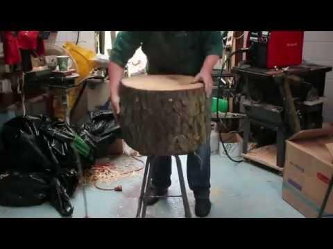 Lampara sacada de tronco de madera youtube - Muebles con troncos ...
