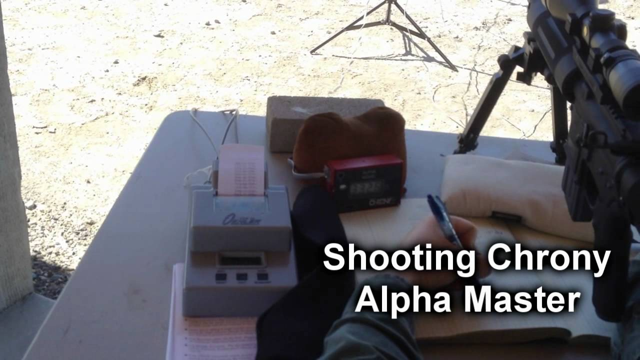 Shooting Chrony Comparison Shooting Chrony Alpha Master