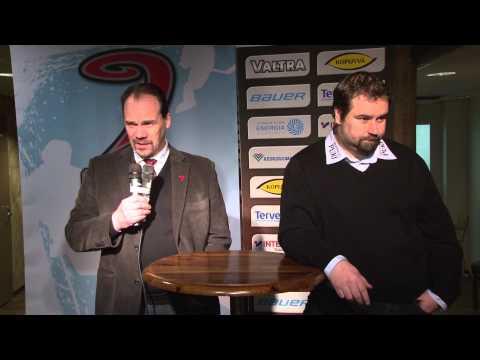 Lehdistötilaisuus ottelusta JYP-Akatemia -SaPKo 26.2.2014
