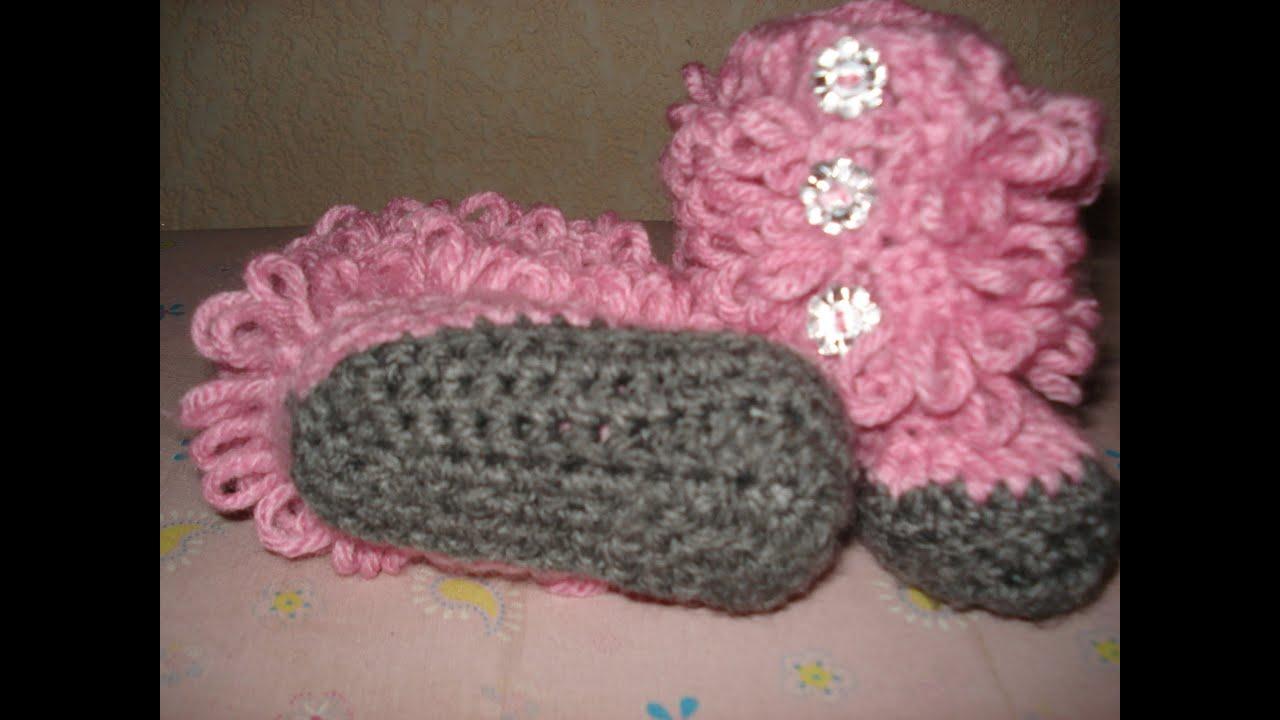 Zapatitos De Tejido Para Bebe En Crochet