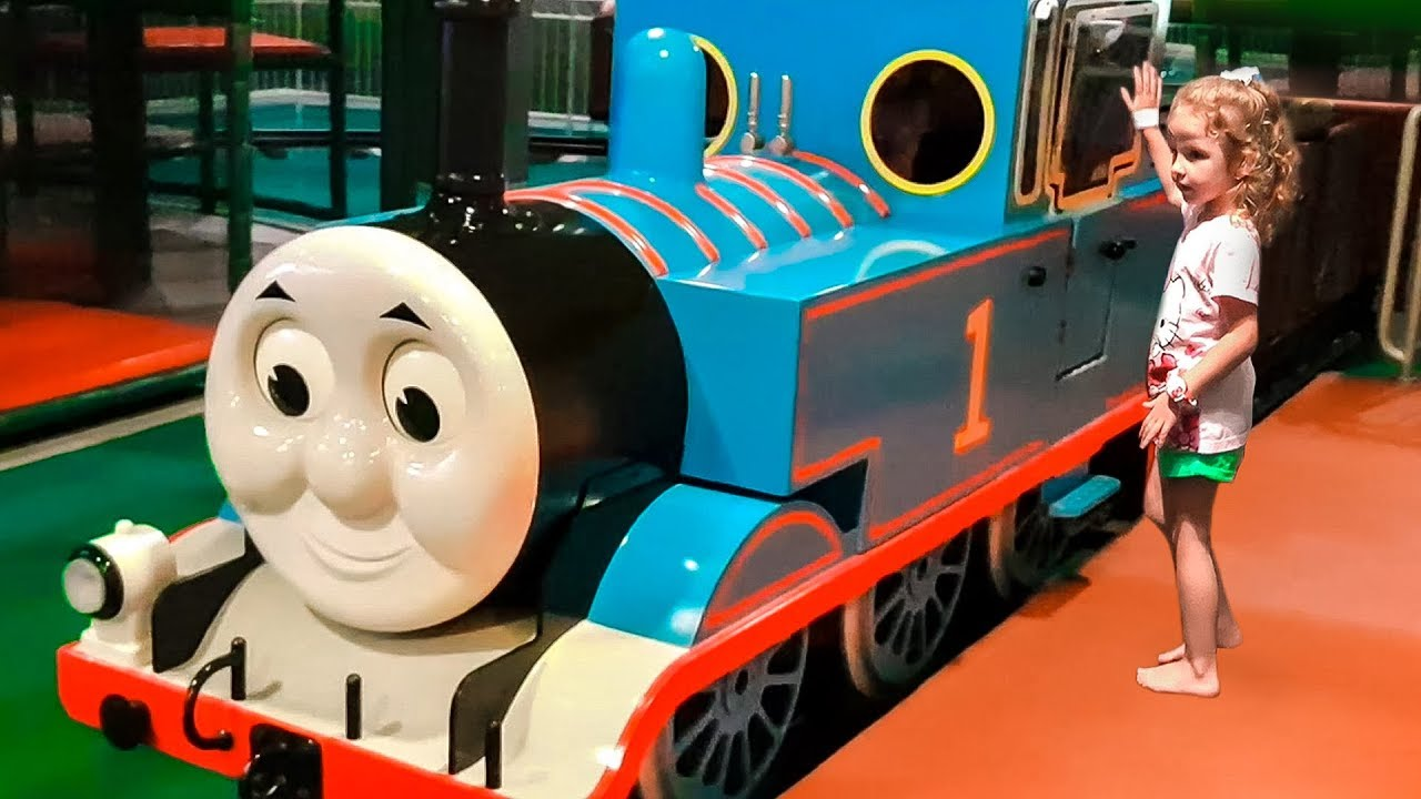 Thomas Town of entertainment for kids as in the Cartoon Thomas and Friends, Family Fun Theme Park