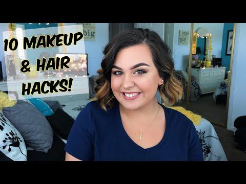 10 MAKEUP & HAIR HACKS ♡