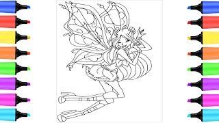 Hướng dẫn vẽ công chúa phép thuật & Tô màu tranh cát | Đồ chơi trẻ em