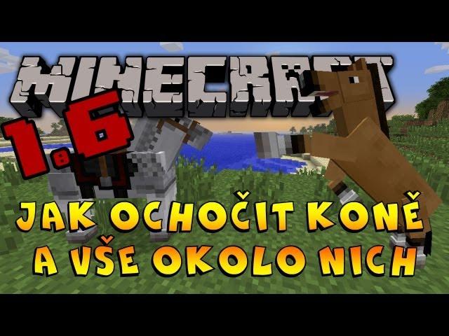 Minecraft 1.6: Jak ochočit koně a Vše okolo nich