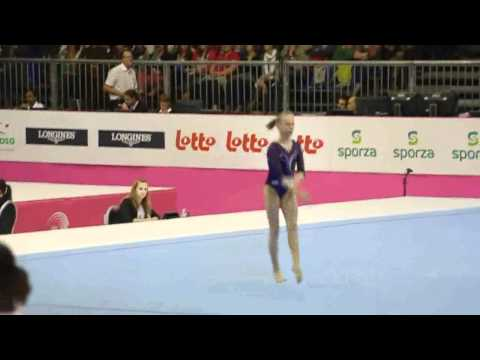 Anastasia SIDOROVA RUS, Floor, Team Final, European Gymnastics Championships 2012