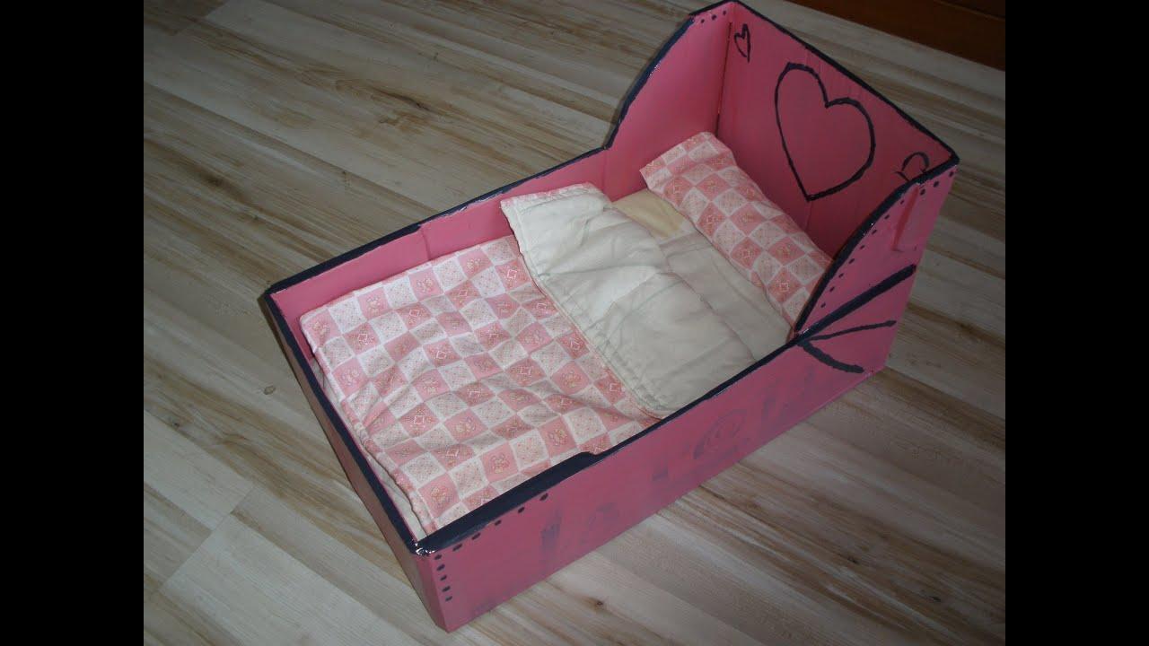 Как сделать кровать для куклы из коробки под обуви