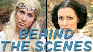 GALADRIEL vs LEIA Behind the Scenes (Princess Rap Battle) *explicit*