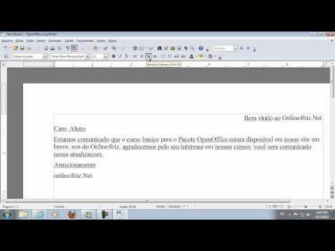 Aula #01 - OpenOffice Conceitos Basicos