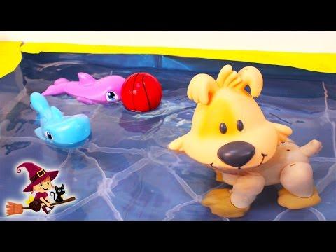 Perro Interactivo que Anda y Nada en el Agua Juguetes de Piscina