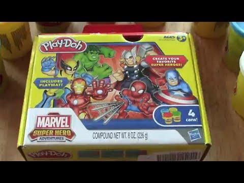 Play Doh Marvel Spiderman - Plastilina de Hombre araña y sus Sorprendentes Amigos
