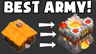 Clash of Clans BEST ATTACK STRATEGY / FARMING ARMY FOR ANY TOWN HALL LEVEL   1 MILLION LOOT RAIDS