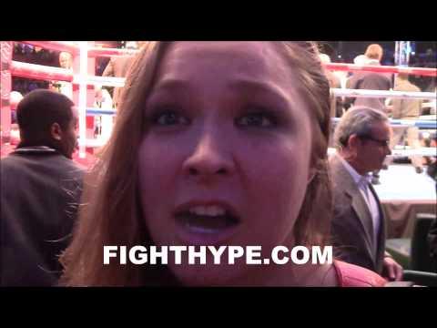 RONDA ROUSEY CANT WAIT TO FIGHT CAT ZINGANO ON JANUARY 3 UFC 182 CARD