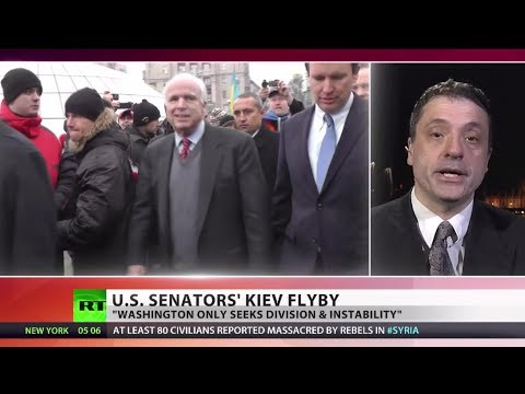 Meddling Affair: McCain praises Ukraine protests as Brussels pulls from trade deal
