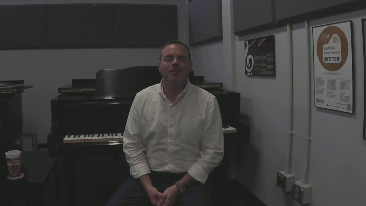 Dr. Jeremey Benson Discusses his Piano Background