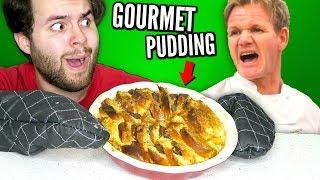 I Tried Making Gordon Ramsay's GOURMET Dessert... Bread & Butter Pudding!