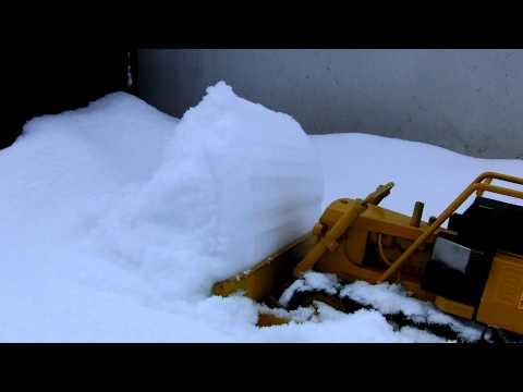 Tonka t9 Dozer rc caterpillar D8 D9 snow plow plowing 2