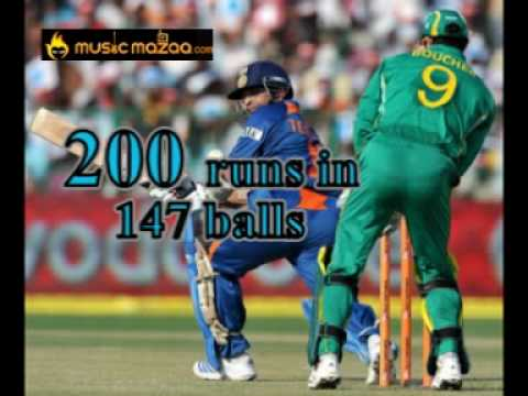 Sachin Tendulkar First Odi Double Century 200 Not Out video