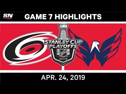 NHL Highlights | Hurricanes Vs. Capitals, Game 7 - April 24, 2019